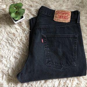 Levi's 501 Black Jeans w/ 5 button front